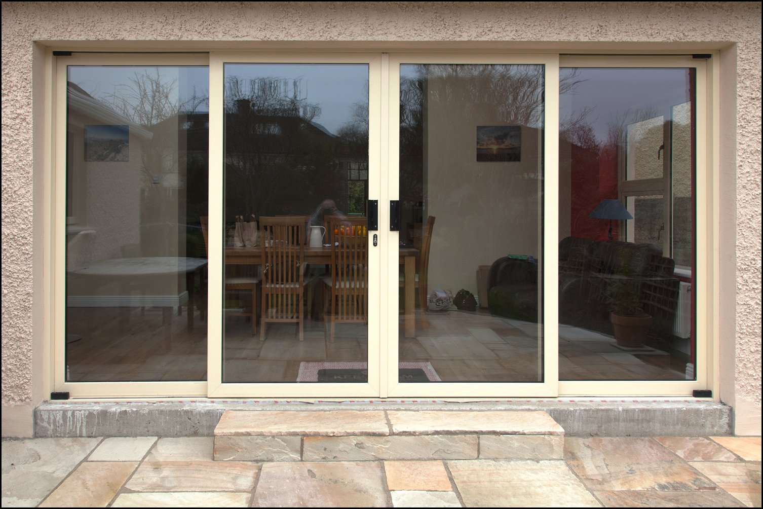 Center sliding patio doors center opening sliding patio for Center sliding patio doors
