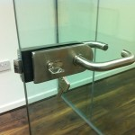 Frameless glass door hardware