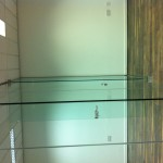 Frameless glass partitions, glass ironmongery
