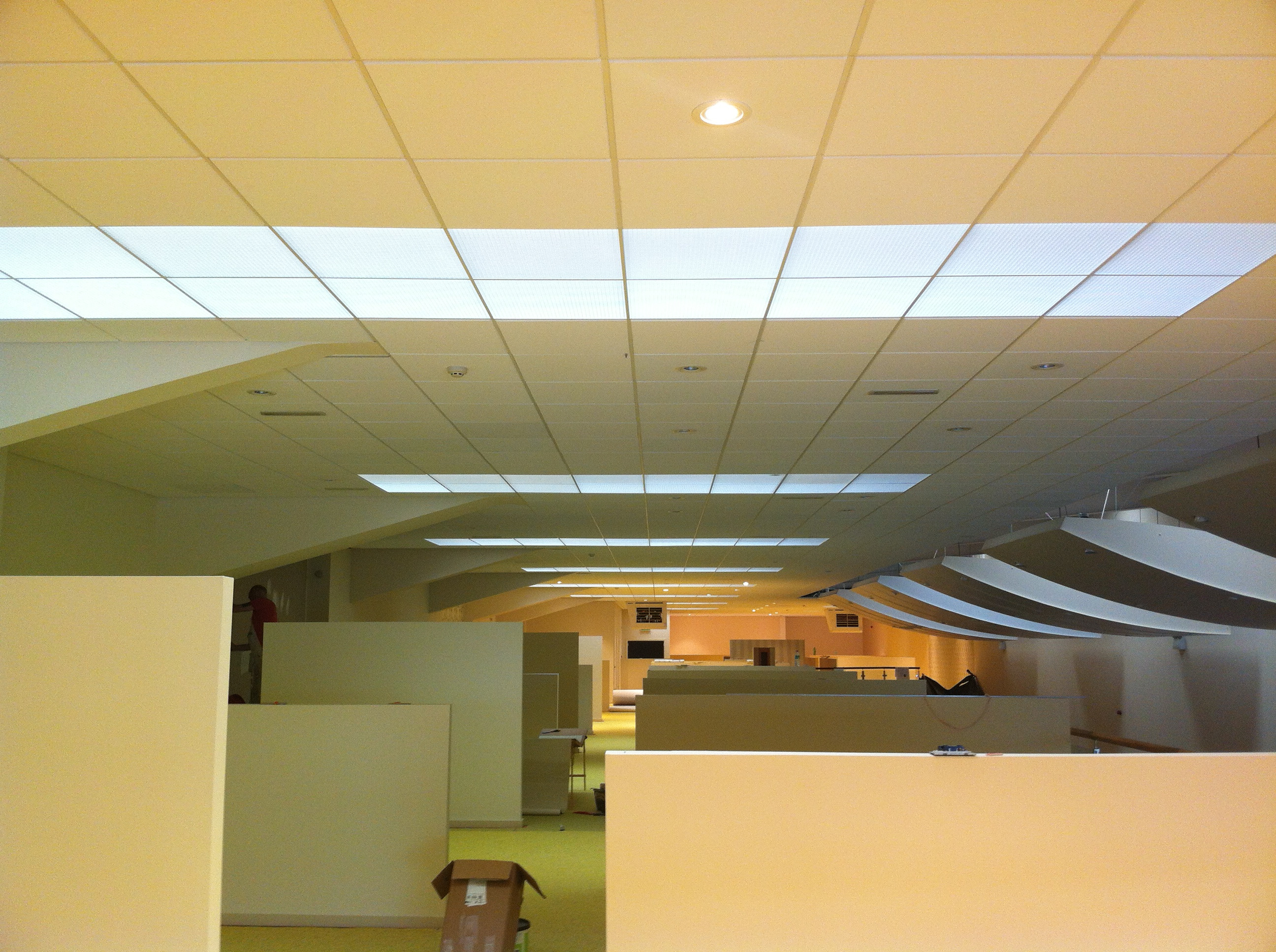 ceiling set suspended ceilings rondo works shepparton up grid exposed plaster browns