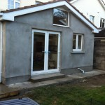 Square apex window extension Dublin, French doors, home extensions Dublin